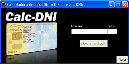 Calculadora de letra DNI