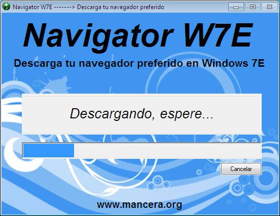 Segunda pantalla Navigator W7E