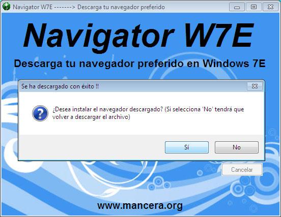 Ventana 3 Navigator W7E
