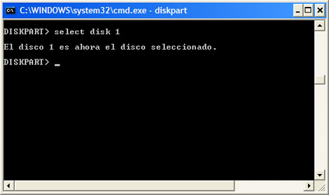 Consola de comandos PASO 4
