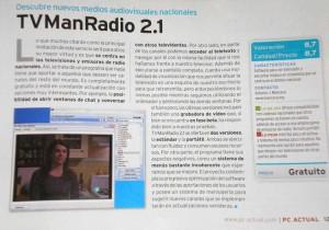 Artículo en PC Actual sobre TVManRadio